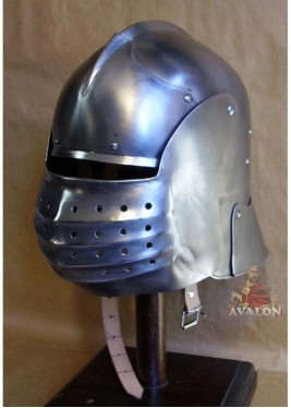 Bellows sallet helmet