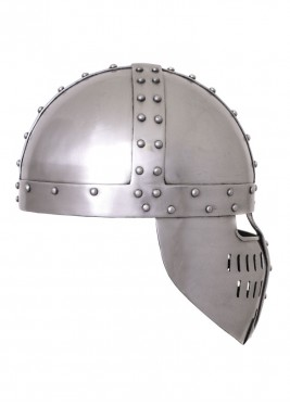 Norman spangen helmet with face plate