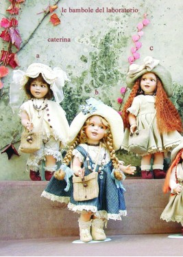 Porcelain Doll - Catherine (A) - Collectible Porcelain Doll, Height 15.7 in