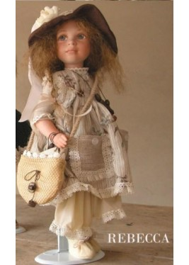 Rebecca Porcelain Doll, Collectible Porcelain Doll - Height: 15 in