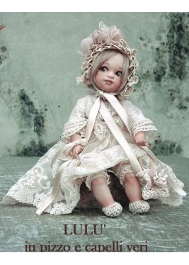 Porcelain Doll, Lulu Lace - Height: 9.4 in