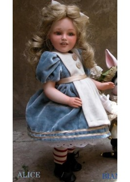 Dolls porcelain fairy tales: Alice - Height 40 cm. (15.7in)