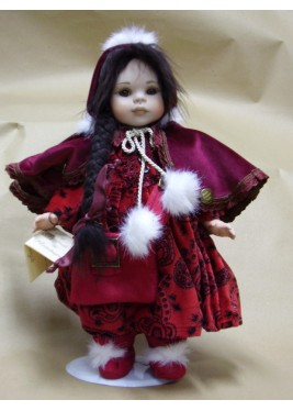 Porcelain Doll Costanza - Height: 14 in