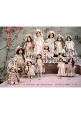 Sandra Panna, Collectible Porcelain Doll - Height: 16.5 in