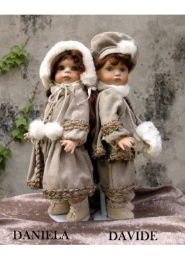 Dolls: David and Daniel - Height 35 cm