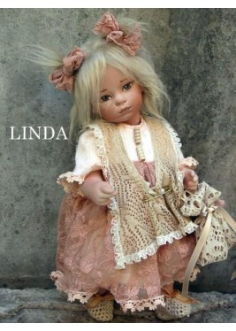 Linda Porcelain Doll - Collectible Porcelain Doll, Height 11 in