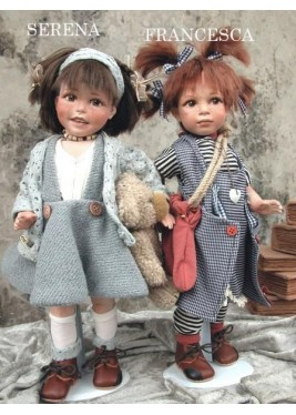 Porcelain Dolls Francesca and Serena - Height: 15 inches