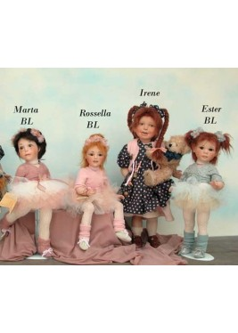 Porcelain Dolls: Martha Rosella Esther Dancers, Size: 33 -38 cm