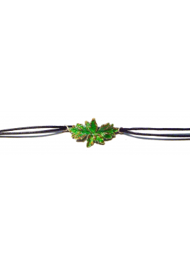 Bracelet with two large leaves
