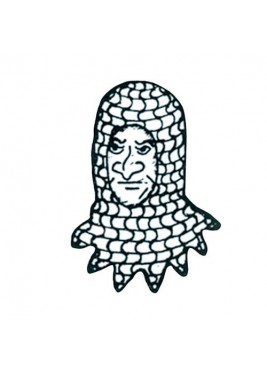 Chainmail coif Armor with spikes