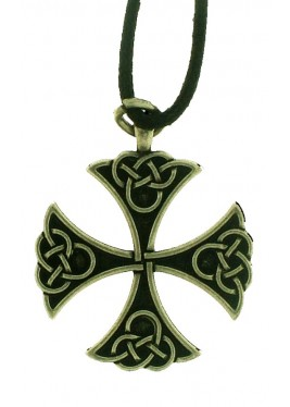 Celtic cross pendant metal.