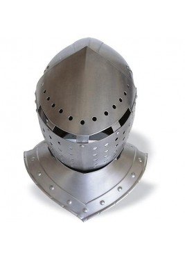 Basinet helmet, great head armour