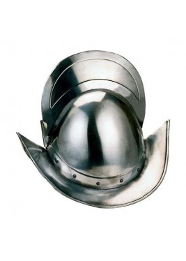 Round Morion Helmet with Crest