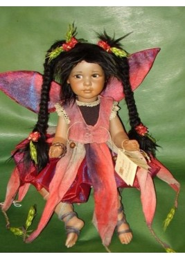 Fairy Josephine Porcelain Fairy Doll 14.2 in, Porcelain Fairy Dolls