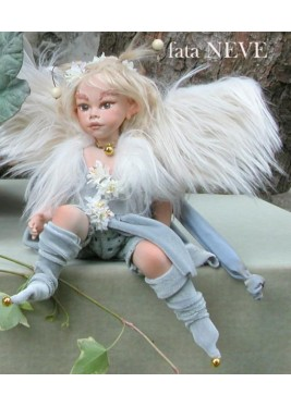 Snow Fairy Porcelain Fairy Doll 8.6 in, Porcelain Fairy Dolls