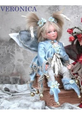 Fairy Veronica, Porcelain Fairy Doll 10.2 in, Porcelain Fairy Dolls