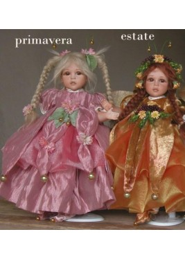 Fairies of Time: Spring, Summer - Porcelain Fairy Doll 12.6 in