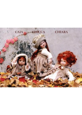 Porcelain Doll, Caia Chiara Chicca - Collectible Porcelain Dolls - Height: 11 in