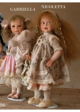 Porcelain Dolls: Gabriella and Nicoletta, Size: 38 cm