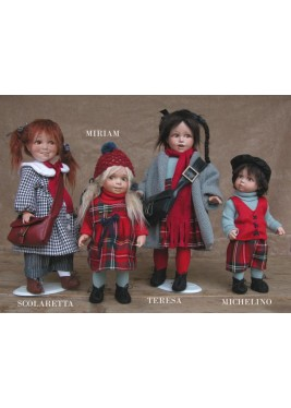 Porcelain Doll Miriam, Collectible Porcelain Doll - Height: 10.6 in
