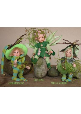 Elf doll: Lichen -  porcelain doll