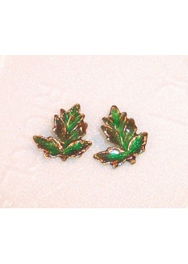 Earrings leaf lobe