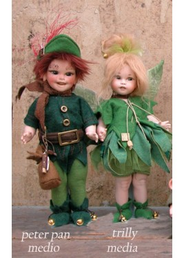 Peter Pan - Trilly - Dolls porcelain fairy tales