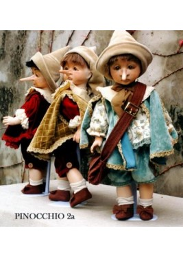 Pinocchio  seriously happy - Dolls porcelain fairy tales