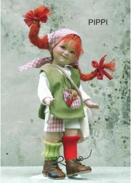 Pippi longstocking - Dolls porcelain fairy tales
