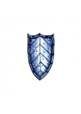 Medieval shield with three-pointed