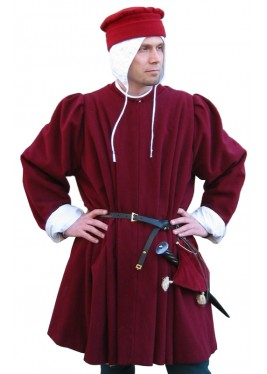 Pleated surcoat of 1400