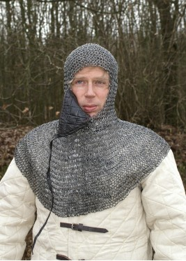 chainmail with gorget and triangular mask
